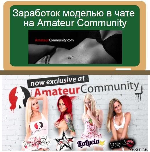 заработок на AmateurCommunity