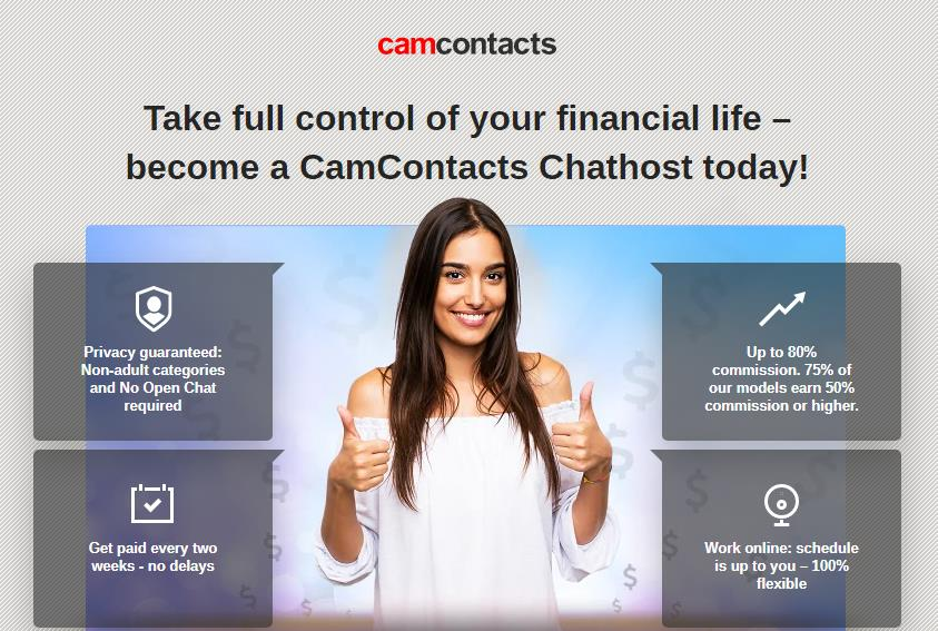 Camcontacts заработок
